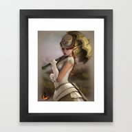 Framed Art Print featuring Vintage Butterfly by Illu-Pic-A.T.Art