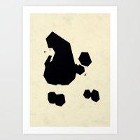 Poodle essence Art Print