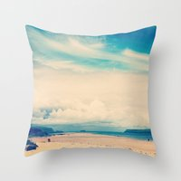Padstow Estuary  Throw Pillow