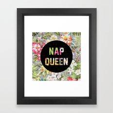 Nap Queen Framed Art Print