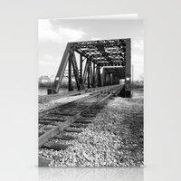 Train Bridge 1 - B&W Stationery Cards
