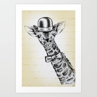 I'm too SASSY for my hat! Giraffe. Art Print