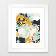 Tinsley - Abstract Paint… Framed Art Print