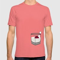 Hey, careful, man, there's a beverage here!  Mens Fitted Tee Pomegranate SMALL