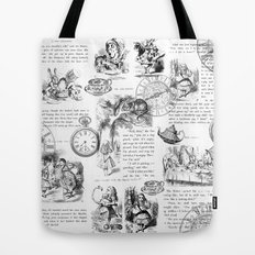 Alice in Wonderland - Pages Tote Bag