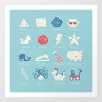 Geometry Cheat Sheet Art Print