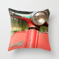The old scooter - Bambi Throw Pillow