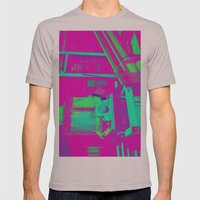 Industrial Abstract Purp… Mens Fitted Tee Cinder SMALL