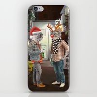 A Cats Night Out Christm… iPhone & iPod Skin