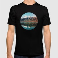 New Zealand Glacier Landscape Mens Fitted Tee Black SMALL