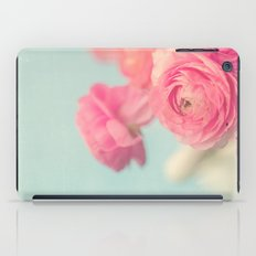 Cotton Candy, Pink Ranunculus iPad Case