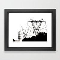 I Heart Your Electricity… Framed Art Print