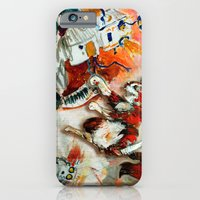 iPhone & iPod Case featuring Cat vs. Robot by David Finley