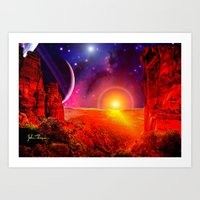 Alien canyon Art Print