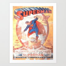 Superman Poster Art Print