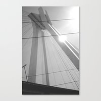 Bridge in Ludwigshafen, Germany. Canvas Print