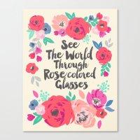 See The World Through Ro… Canvas Print