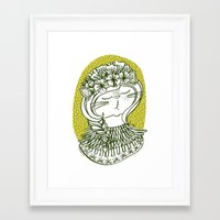 Spring Cat Lady  Framed Art Print