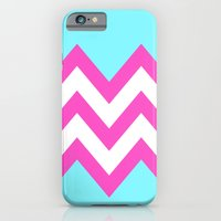 TEAL & PINK CHEVRON COLO… iPhone 6 Slim Case