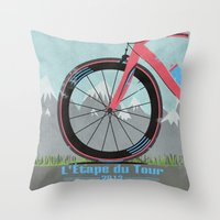L'Etape du Tour Bike Throw Pillow