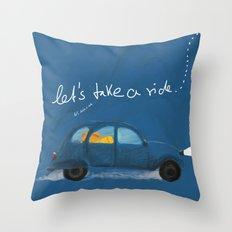 let's take a ride.. Throw Pillow