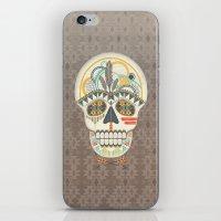 AZTEC SKULL B/W  iPhone & iPod Skin