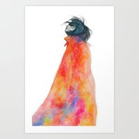 The Girl With The Starry… Art Print