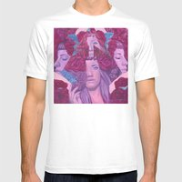 Megan Mens Fitted Tee White SMALL