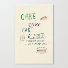 Carrot Cake Canvas Print