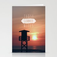 Those Summer Nights (Rep… Stationery Cards