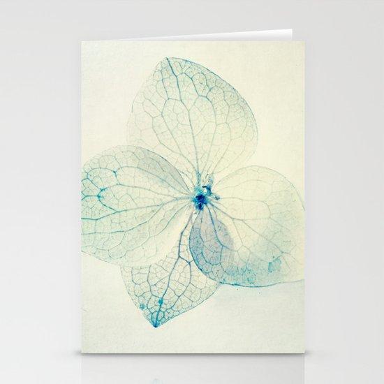 pastel hydrangea Stationery Card