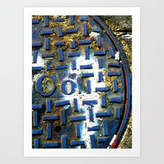 Deep Blue Metal Art Print