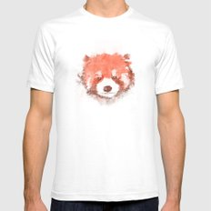 Red Panda White Mens Fitted Tee SMALL