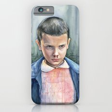 Eleven from Stranger Things Watercolor Portrait Art Slim Case iPhone 6s