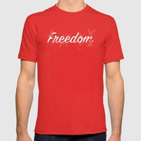 Freedom | Animals Mens Fitted Tee Red SMALL