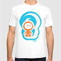 Spaceman 01 Mens Fitted Tee White SMALL