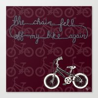 The Chain Fell Off My Bi… Canvas Print