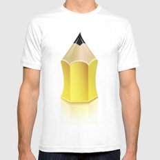 Stylized Pencil Artwork (Vector) Mens Fitted Tee SMALL White