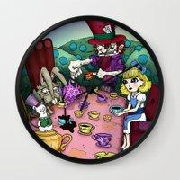 Alice In Wonderland By R… Wall Clock