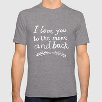 To The Moon And Back Mens Fitted Tee Tri-Grey SMALL