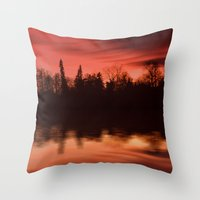 Passing By The Lake Throw Pillow
