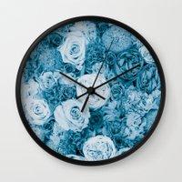 Bouquet Ver.bluegreen Wall Clock