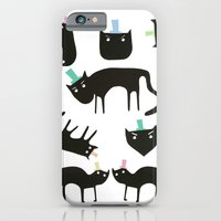 Little cats in colourful hats iPhone 6 Slim Case