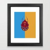 Art Deco Beetle Framed Art Print