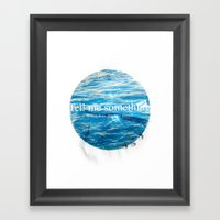 When Was The Last Time? Framed Art Print