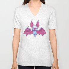Albino Vampire Bat Unisex V-Neck