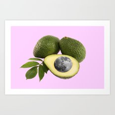 Avocado moon festival Art Print