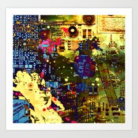 Circuit Board Lost Art Print