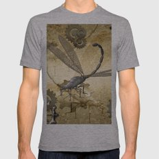 Steampunk, dragonflies Mens Fitted Tee Athletic Grey SMALL
