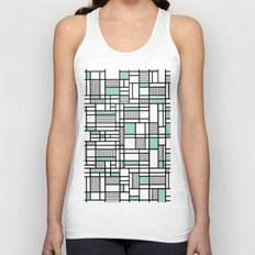 Map Lines Mint Unisex Tank Top